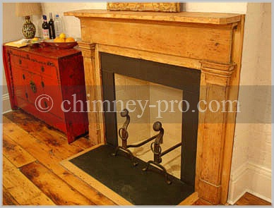 Kitchen Fireplace-Colonial Style