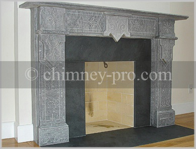 Fully Restored Masonry Fireplace and Marble Mantel