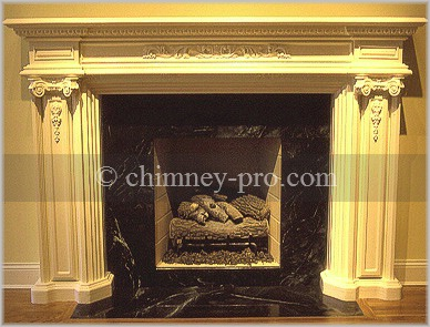 Professionaly Restored Fireplace and Mantel